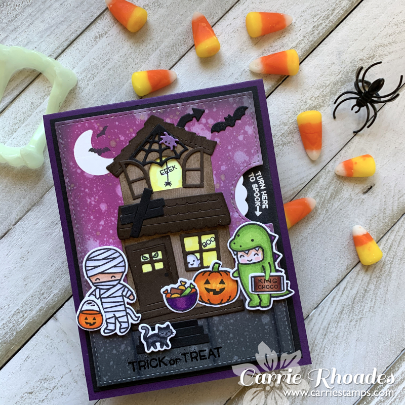 Trick or treat reveal card