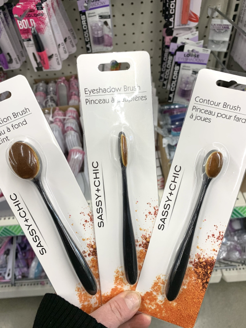 Dollar store blending brushes