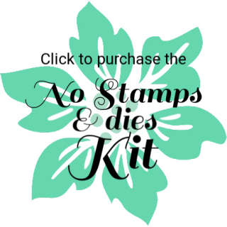 HSB no stamps and dies Kit Button
