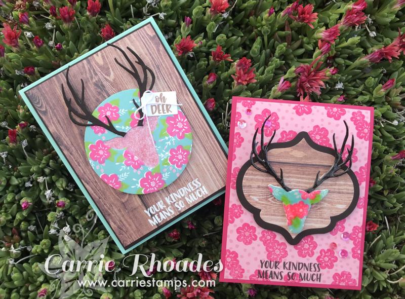 Floral print deer 1