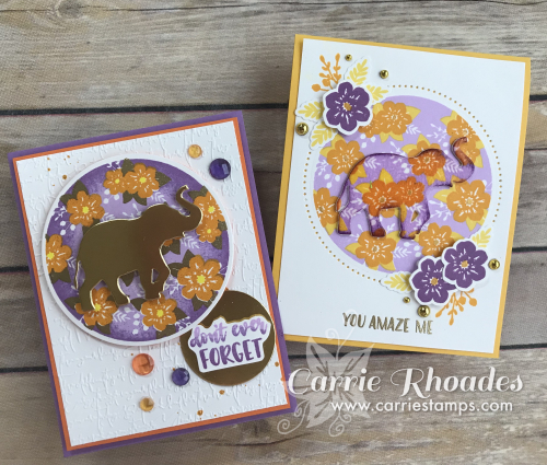 Floral Print elephant cards