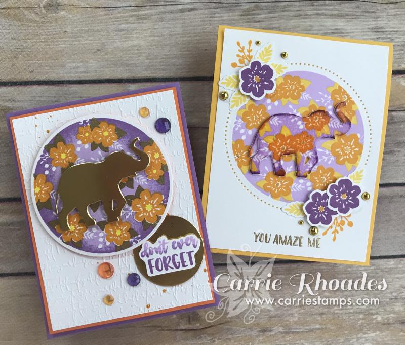 Floral Print elephant cards