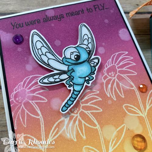 Dragonfly card cu