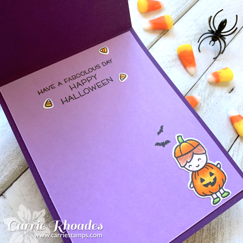 Trick or treat reveal card inside