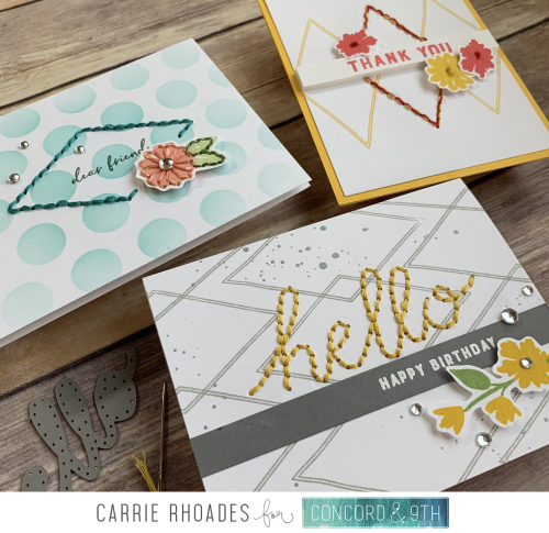 Sew pretty cards