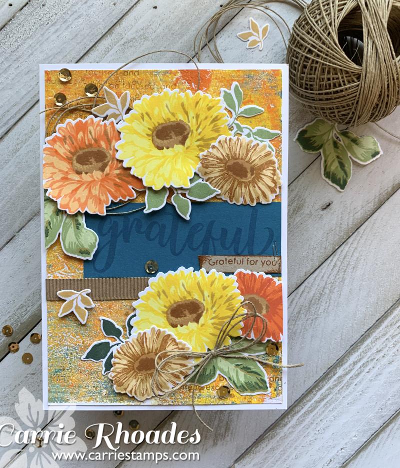 Large Sunflower Daisy card 1