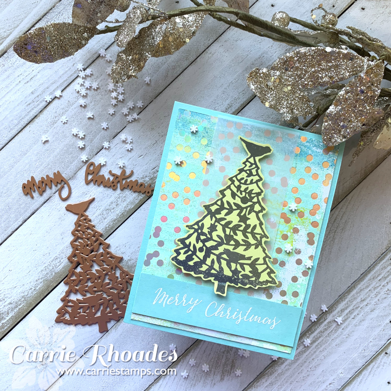 Glimmering merry christmas tree 6