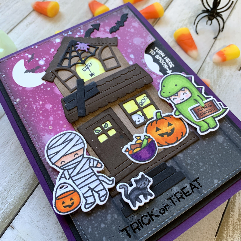 Trick or treat reveal card 2