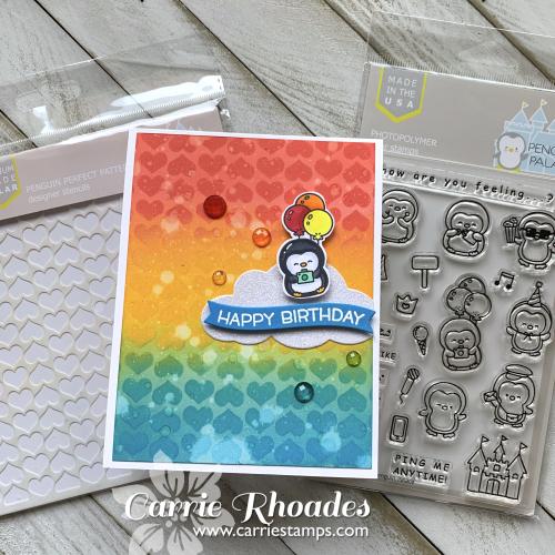 Rainbow bday penguin 1