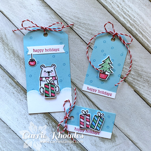 Hot cocoa stand colored pencil tags