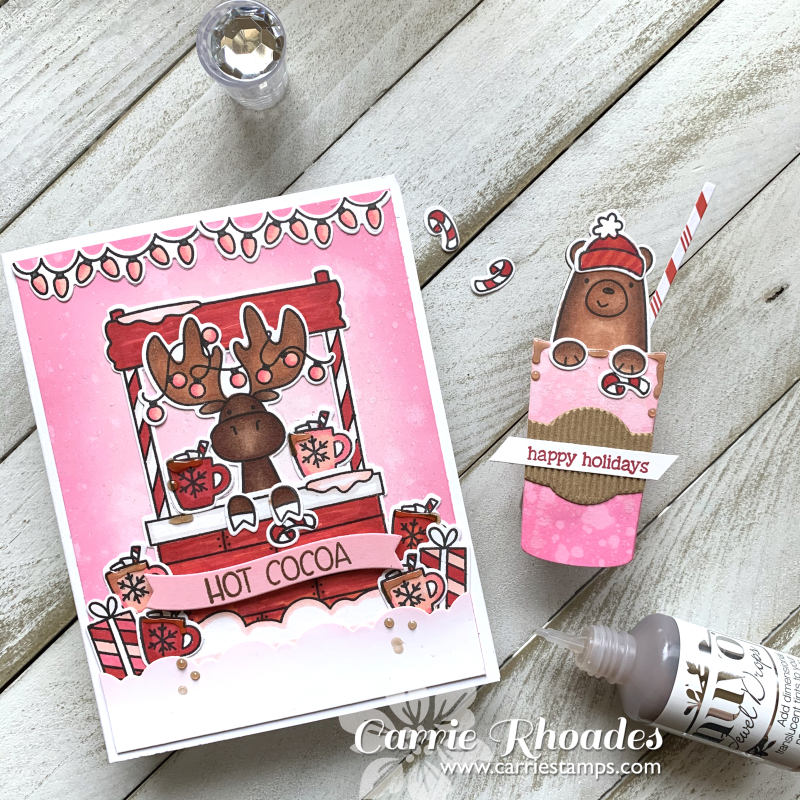 Pink cocoa stand 4