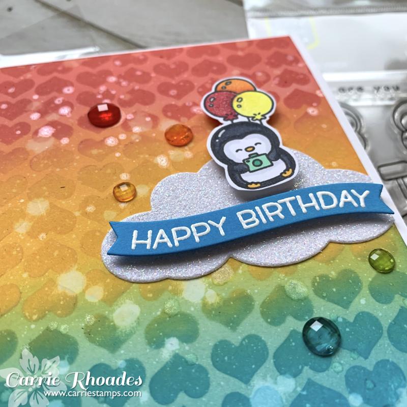 Rainbow bday penguin 2