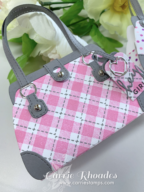 Pink plaid purse