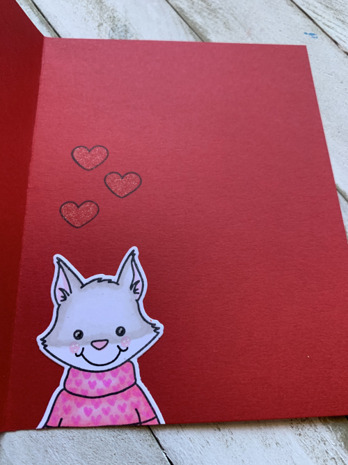 Foxy card inside