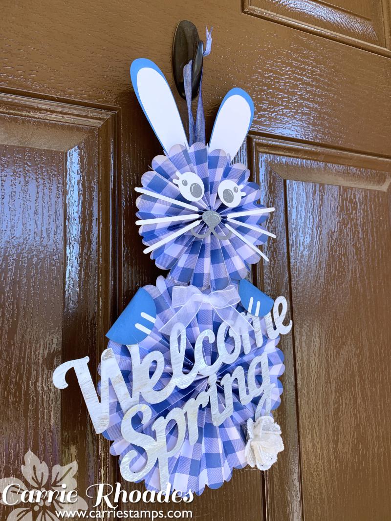 Blue bunny door hanger 2