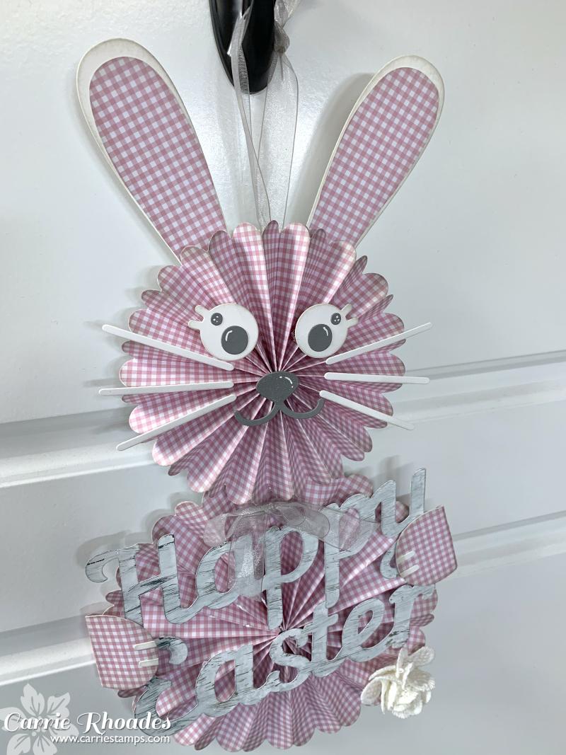 Pink bunny door hanger 2