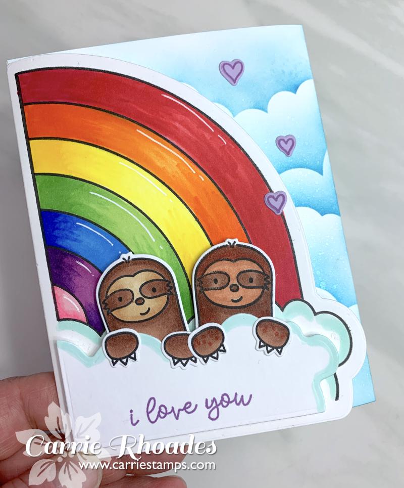 Rainbow shape cards 3