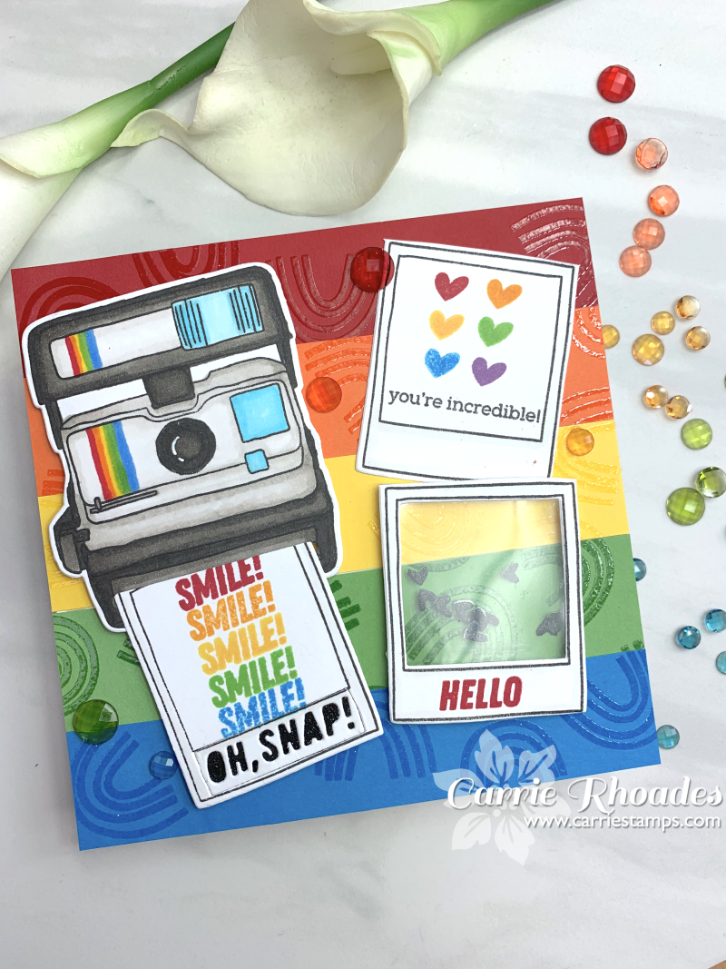 Rainbow turnabout embossed 3