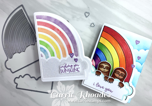 Rainbow shape cards 1