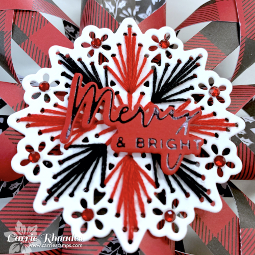 Merry stitching paper snowflake 1