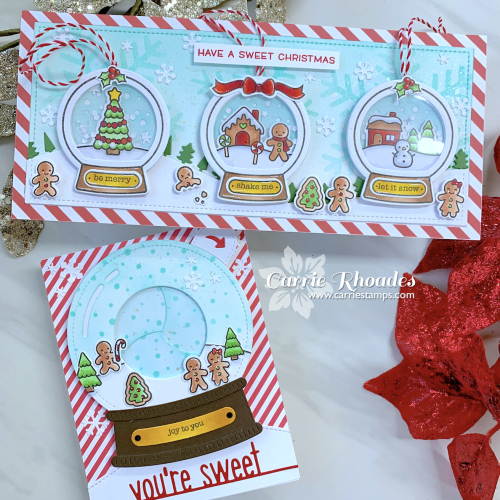 Tiny gingerbread snowglobe cards 1