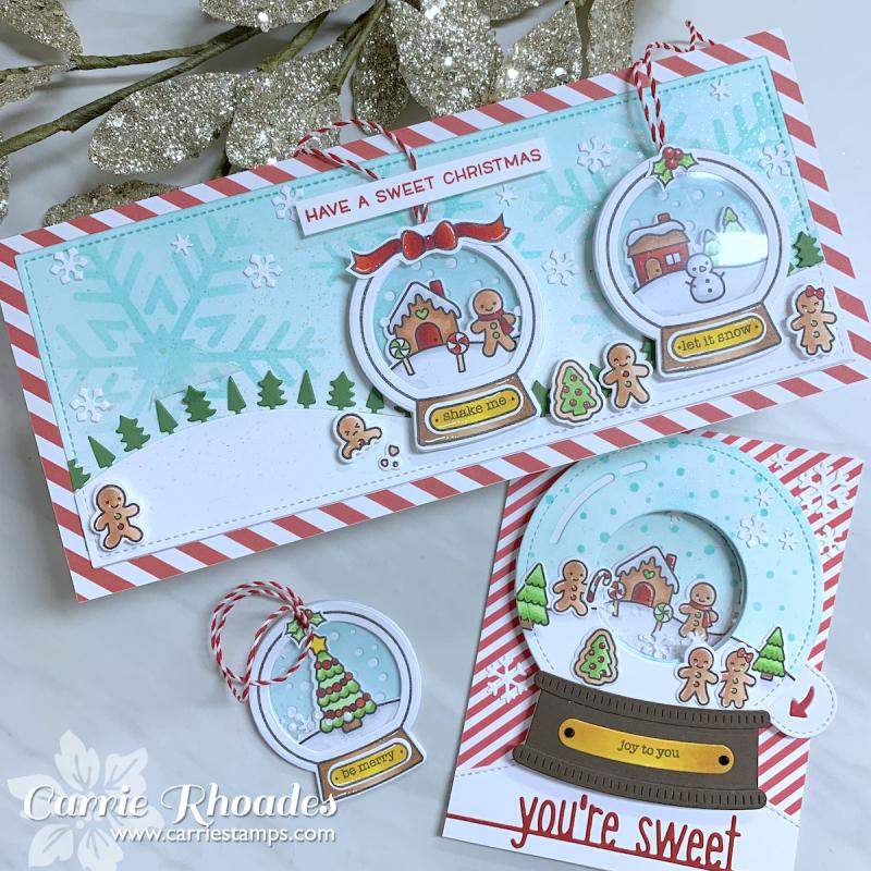 Tiny Christmas snowglobe cards 2