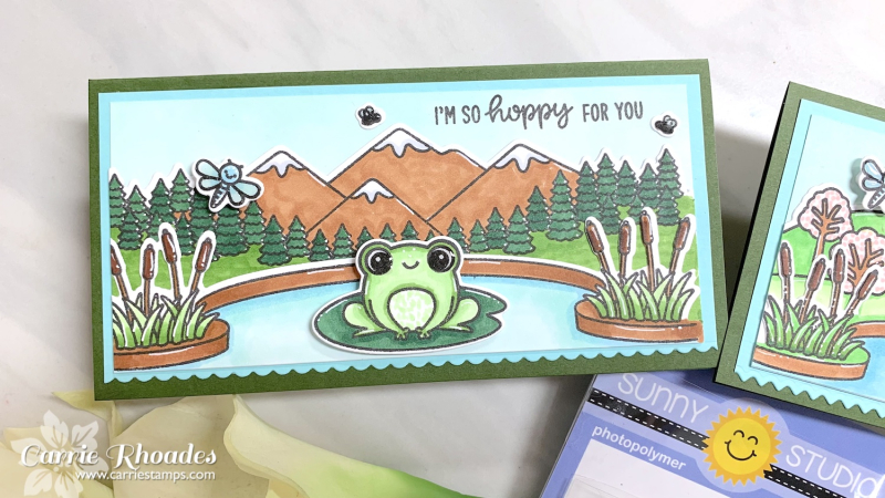 Feeling froggy mini slimline 2