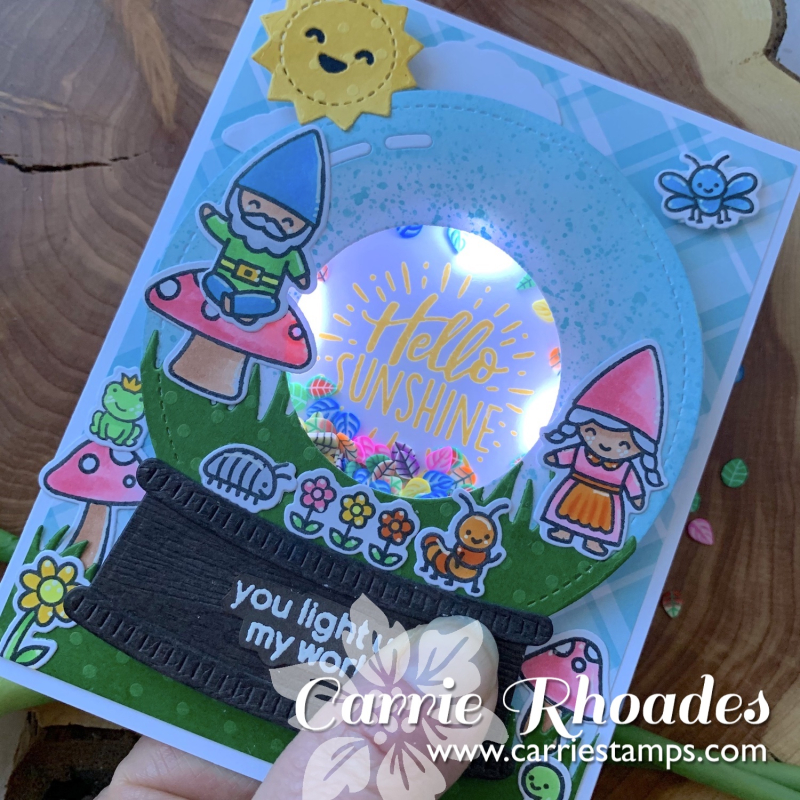 Light up snow globe card 4