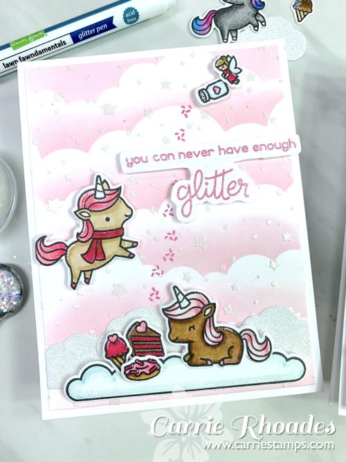 Unicorn picnic glitter 6