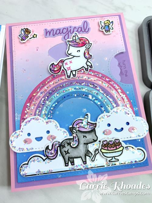 Unicorn picnic glitter 2