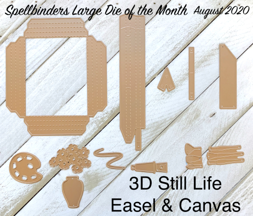 3D Still LIfe Easel and Canvas