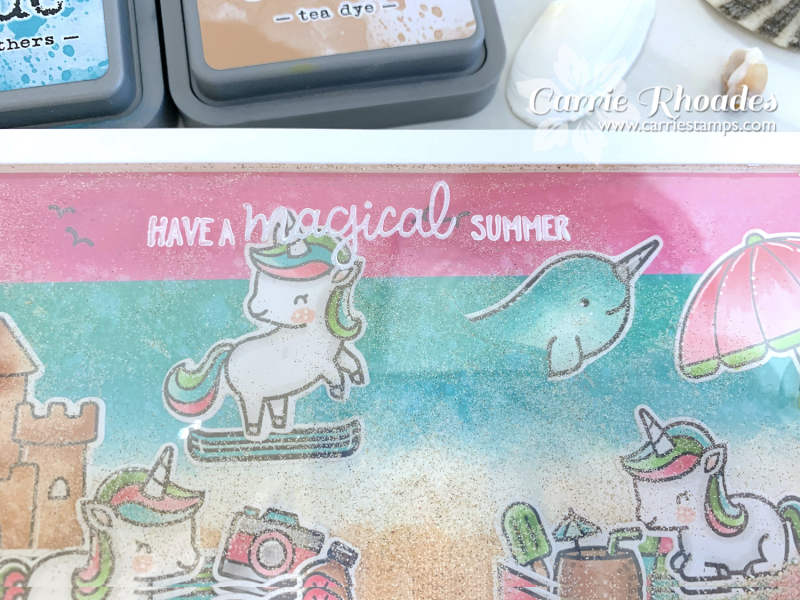 Unicorn picnic at the beach 4