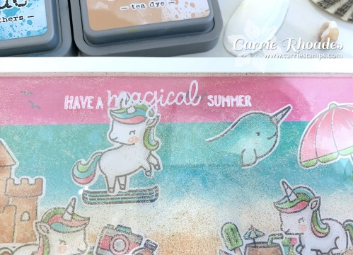 Unicorn picnic at the beach 4