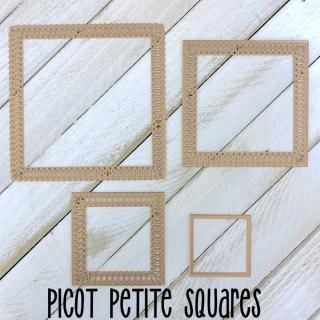 Picot petite squares die set