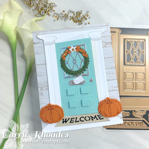 Always welcome fall door 1