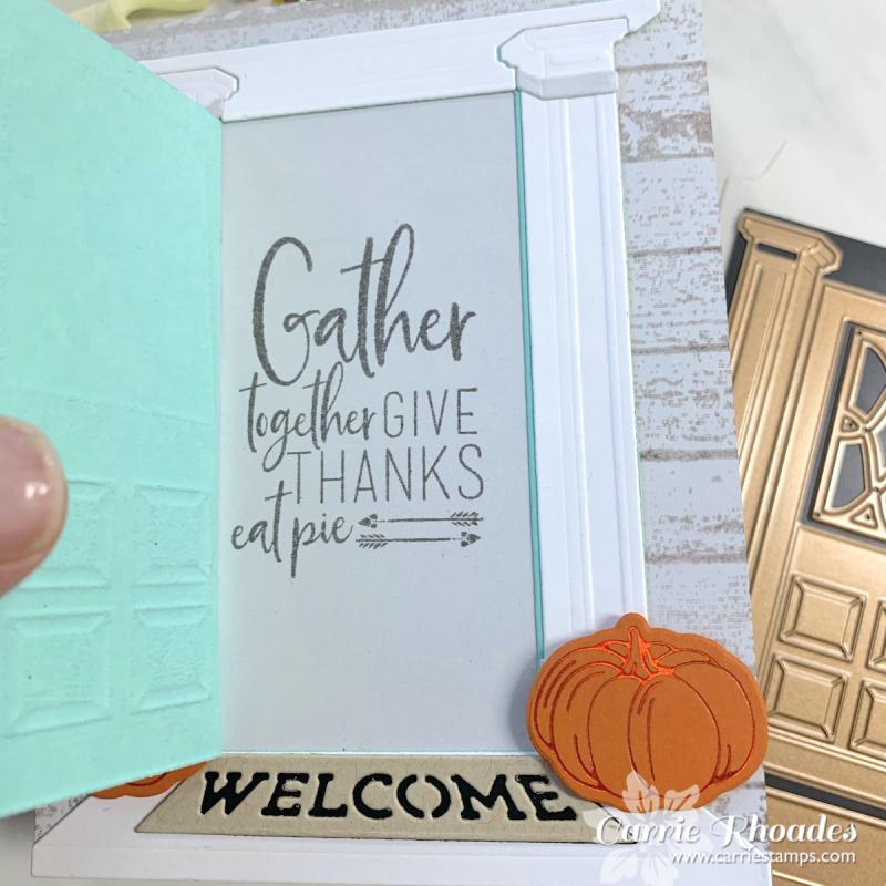 Always welcome fall door 2