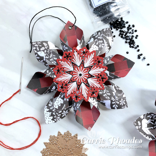Merry stitching paper ornament 3