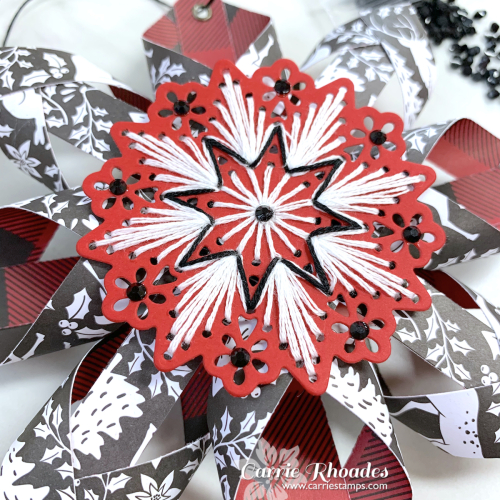 Merry stitching paper snowflake 2