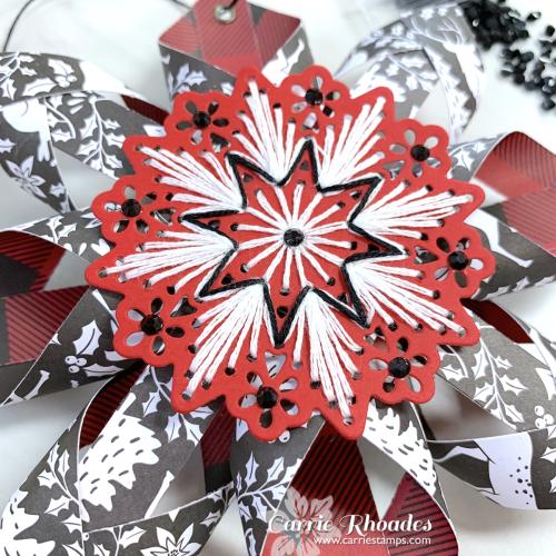 Merry stitching paper snowflake 2