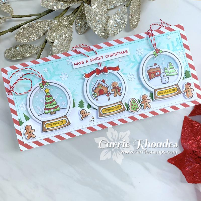 Tiny gingerbread slimline snowglobe card 1