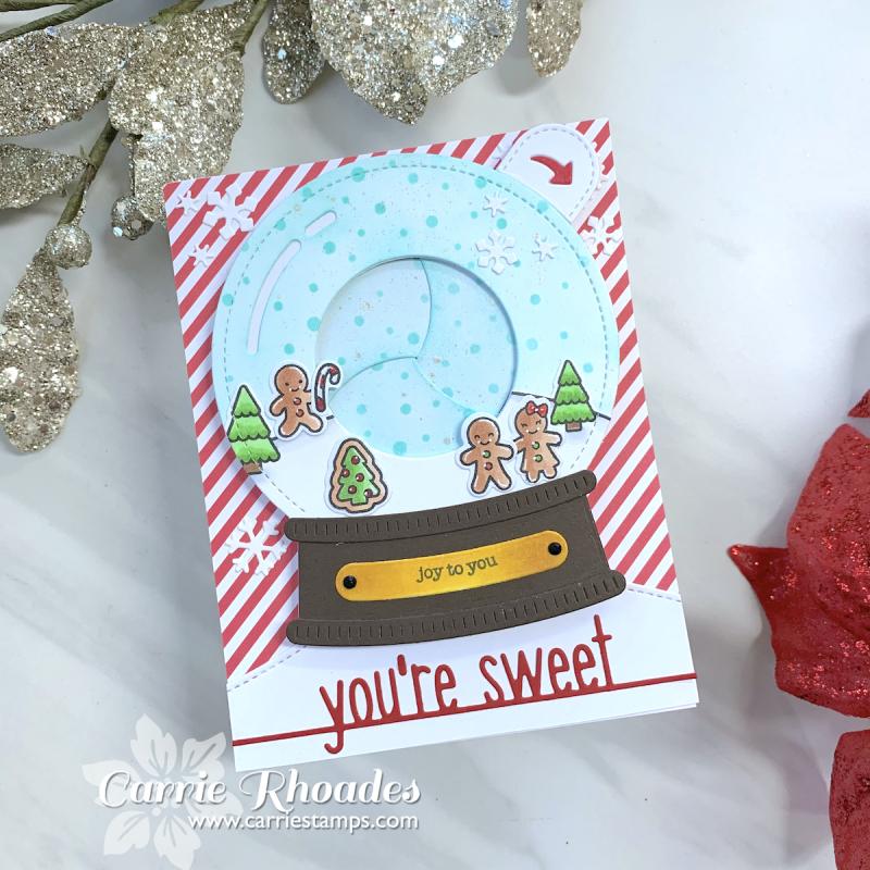 Tiny gingerbread snowglobe magic iris 2