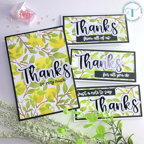 Leaves and lemons cards 1