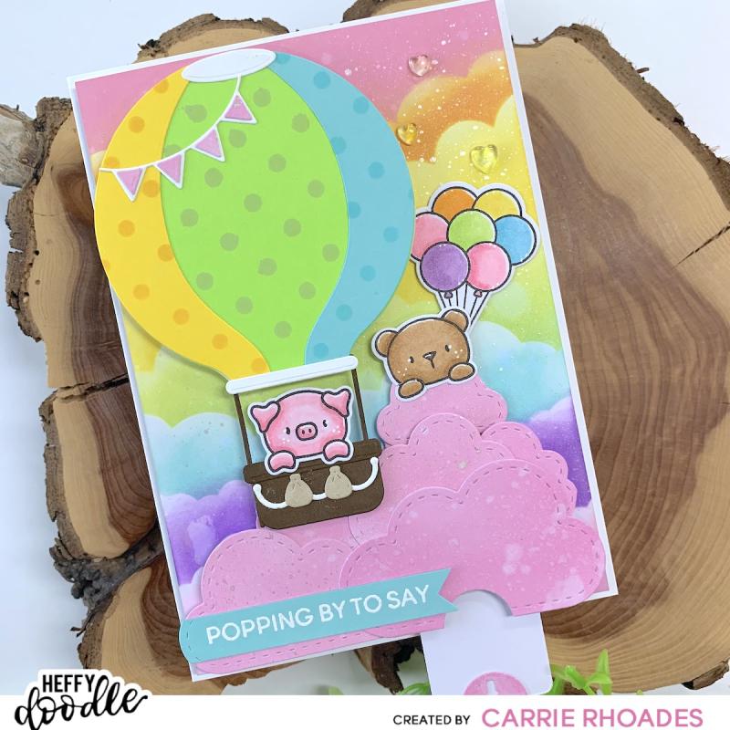 Pop up balloon hop card 2