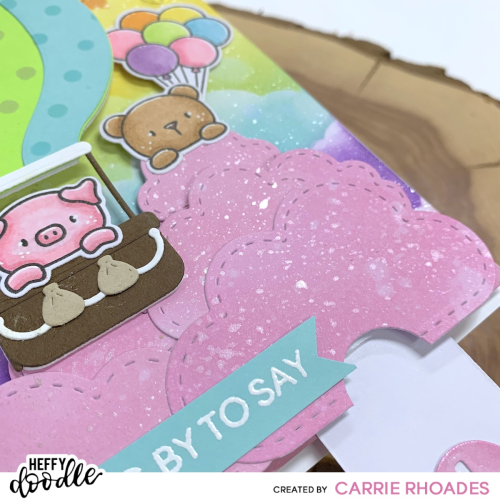 Popping up balloon card cu