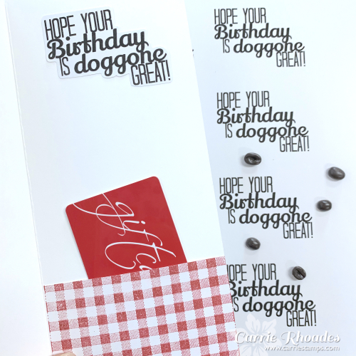 Doggone birthday inside