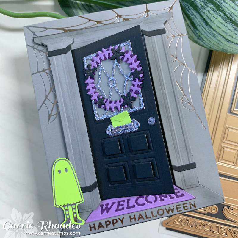 Always welcome halloween door 1