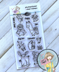 Critter costume party stamp set