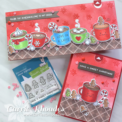 Tiny gingerbread pull tab cards