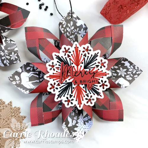 Merry stitching paper ornament 4