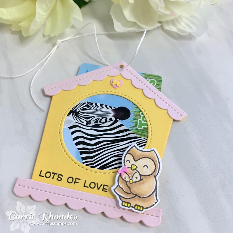 Bird house gift card holder